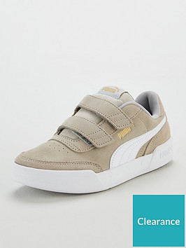 puma-caracal-sd-v-childrens-trainers-greywhitegold