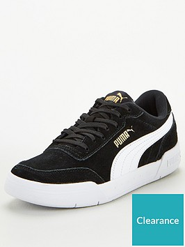 puma-caracal-sd-junior-trainers-blackwhitegold