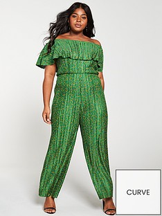 girls-on-film-curve-ditsy-floral-plisse-wide-leg-bardot-jumpsuit-greennbsp