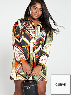 girls-on-film-curve-spliced-print-shirt-dress-multinbspprint