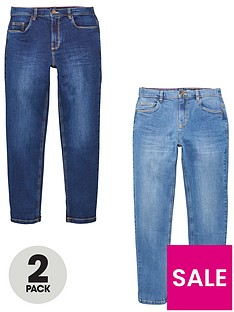 v-by-very-boys-2-pack-slim-jeans-blue