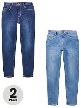 v-by-very-boys-2-pack-slim-jeans-blue