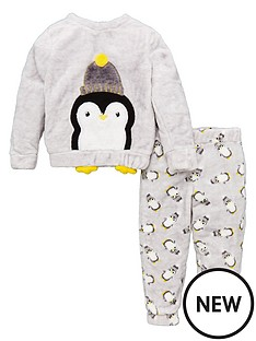 v-by-very-unisex-penquin-fleece-christmas-pyjamas