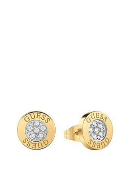 guess-guess-love-knot-gold-crystal-set-logo-ladies-stud-earrings