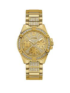 990f627f0 Guess Guess Lady Frontier Gold and Crystal Set Multi Dial Gold Crystal Set  Stainless Steel Bracelet Ladies Watch