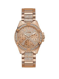 guess-guess-lady-frontier-rose-gold-and-crystal-set-multi-dial-rose-gold-crystal-set-stainless-steel-bracelet-ladies-watch