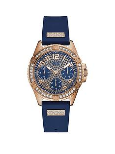guess-guess-lady-frontier-rose-gold-and-blue-detail-crystal-set-multi-dial-blue-silicone-strap-ladies-watch