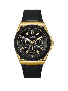 guess-guess-legacy-black-and-gold-detail-multi-dial-black-silicone-strap-mens-watch