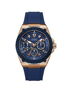 guess-guess-legacy-blue-and-rose-gold-detail-multi-dial-blue-silicone-strap-mens-watch