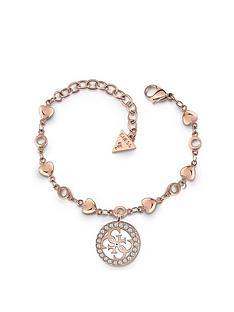 guess-guess-tropical-sun-rose-gold-logo-charm-ladies-bracelet
