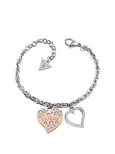guess-guess-heart-warming-rose-gold-and-silver-heart-ladies-bracelet