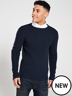 selected-homme-victor-crew-neck-jumper-navy