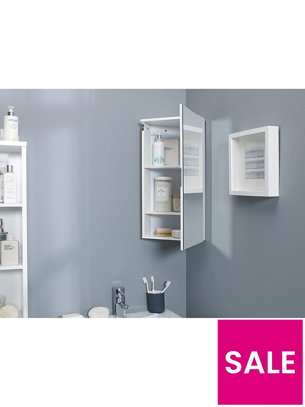 Lloyd Pascal Luna Hi Gloss Corner Bathroom Wall Cabinet White Littlewoodsireland Ie