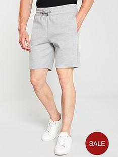 river-island-grey-marl-pique-shorts