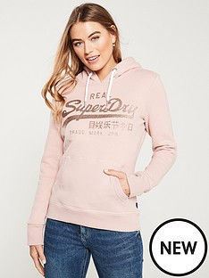 superdry-vintage-logo-glitter-emboss-entry-hoodie-copper-blush