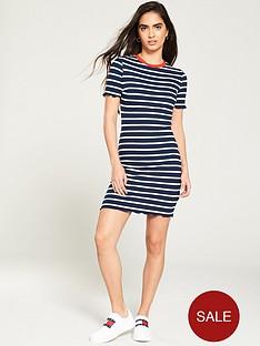 tommy-jeans-babylock-stripe-bodycon-dress-navywhite