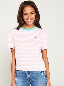 tommy-jeans-contrast-rib-stripe-t-shirt-pink