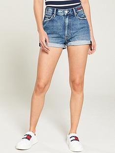 tommy-jeans-frayed-hem-denim-short-mid-blue