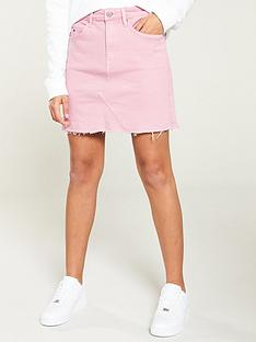 tommy-jeans-short-denim-skirt-pink