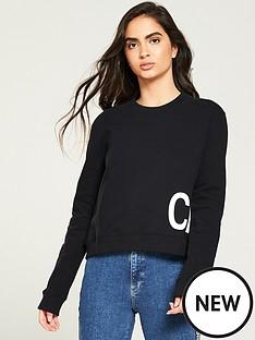 calvin-klein-jeans-boxy-crew-neck-sweatshirt-blackwhite