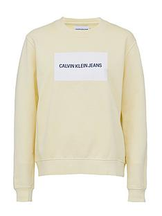calvin-klein-jeans-institutional-box-logo-crew-neck-sweat-lemon-white