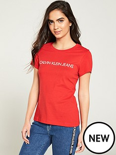calvin-klein-jeans-institutional-logo-slim-fit-t-shirt-red