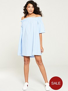 tommy-jeans-summer-off-the-shoulder-dress-blue-stripe