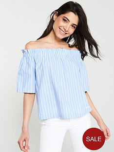 tommy-jeans-off-the-shoulder-top-blue-white