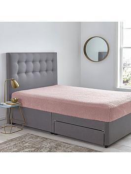 silentnight-teddy-fleece-fitted-sheet-pink