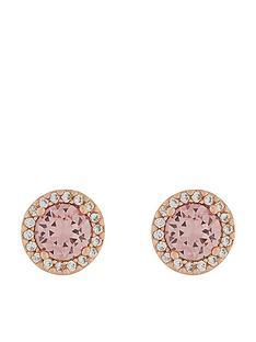 accessorize-rose-gold-halo-swarovski-crystal-stud-pink