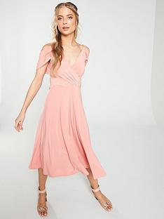 v-by-very-occasion-cold-shoulder-jersey-midi-dress