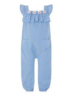 c72115e132b3 Monsoon Baby Girls Elsie Playsuit - Blue