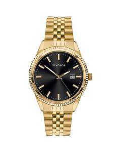 sekonda-sekonda-black-sunray-date-dial-gold-stainless-steel-bracelet-mens-watch