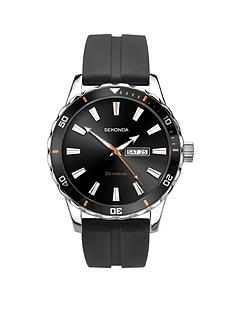 sekonda-sekonda-black-with-silver-and-orange-daydate-dial-black-silicone-strap-mens-watch