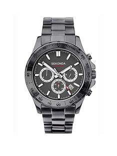 sekonda-sekonda-black-and-silver-detail-chronograph-dial-black-stainless-steel-bracelet-mens-watch