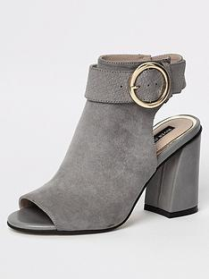 4a3d30f58bc River Island Buckle Shoe Boot - Grey