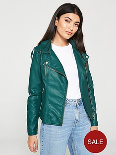 v-by-very-pu-zip-detail-biker-jacket-green