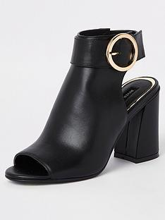 012cfe2791e River Island Buckle Shoe Boot - Black