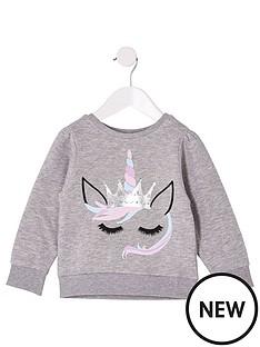 river-island-mini-mini-girls-unicorn-sweatshirt-grey