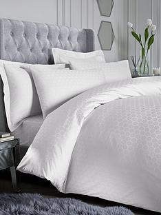 prod1088803840: Luxury 300 Thread Count Honeycomb Duvet Cover Set