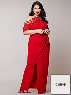 virgos-lounge-curve-embellished-cold-shoulder-maxi-dress-red