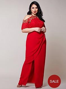 virgos-lounge-curve-embellished-cold-shoulder-maxi-dress-red