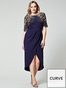 virgos-lounge-curve-embellished-wrap-midi-dress-navy