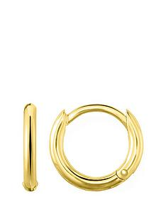 thomas-sabo-thomas-sabo-18k-gold-plated-sterling-silver-huggie-hoop-earrings-s