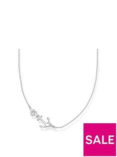 thomas-sabo-thomas-sabo-sterling-silver-cubic-zirconia-love-anchor-necklace