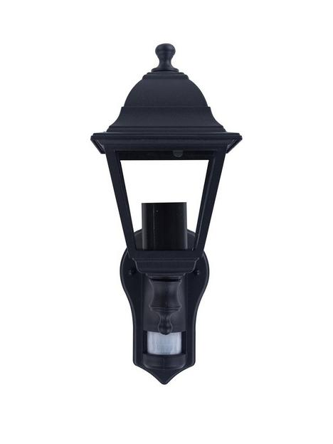 luceco-4-panel-die-cast-coach-lantern-e27-lampholder-ip44-pir-black