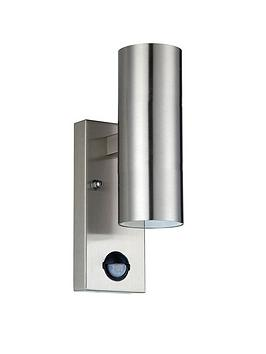 luceco-exterior-stainless-steel-gu10-updown-pir-wall-light-ip54