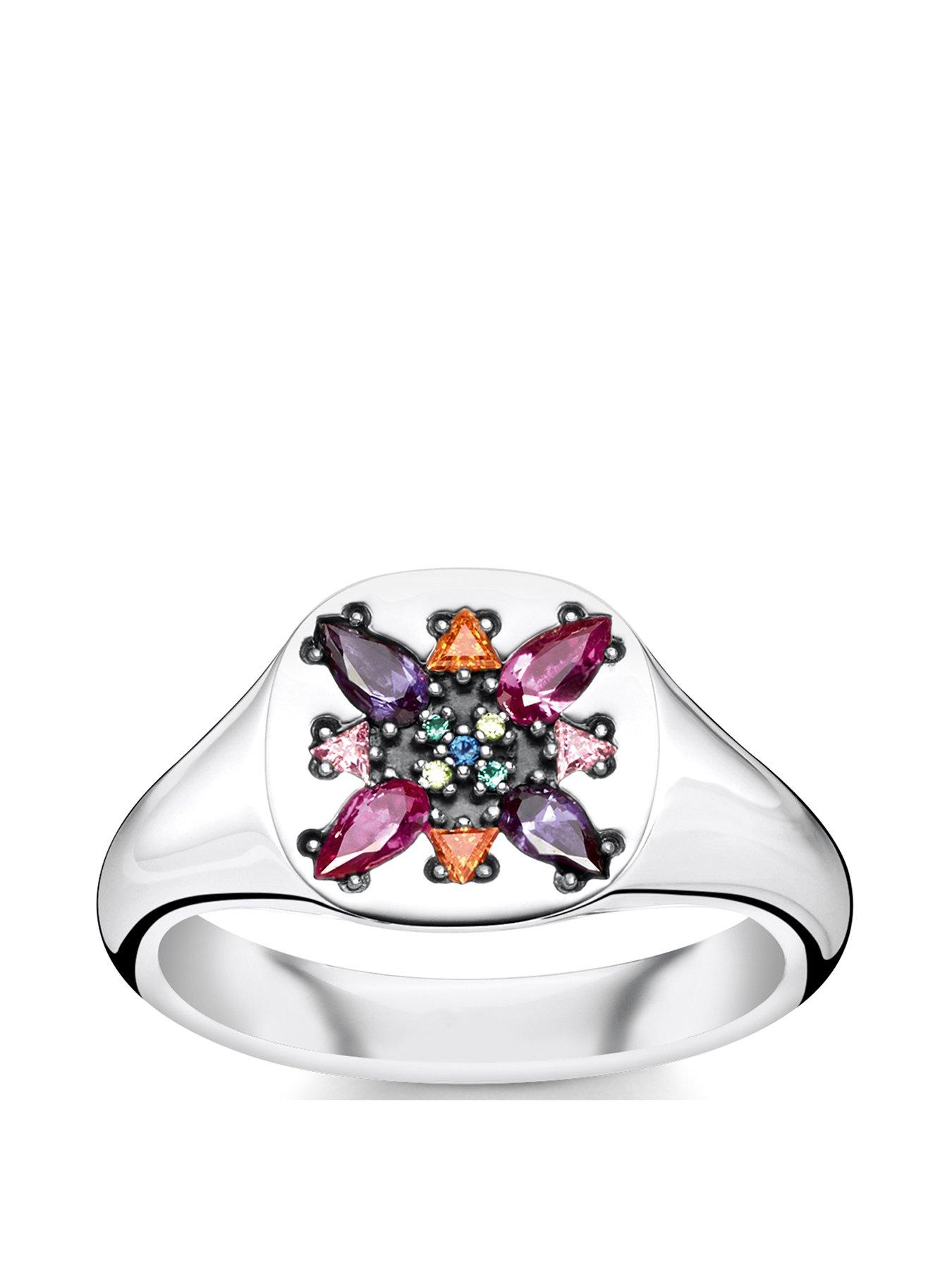 Princess Kylie Sterling Silver Eternal Flame Ring Size 6