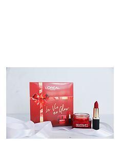 loreal-paris-loreal-paris-la-vie-en-glow-moisturiser-and-lipstick-gift-set-for-her-2-x-50ml