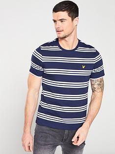 lyle-scott-multi-stripe-t-shirt-navy